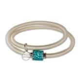 Armband - BOCCADAMO JKBR01 - Silikon/Baumwolle, Strass