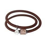 Armband - BOCCADAMO JKBR03 - Silikon/Baumwolle, Strass