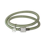 Armband - BOCCADAMO JKBR05 - Silikon/Baumwolle, Strass