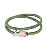 Armband - BOCCADAMO JKBR06 - Silikon/Baumwolle, Strass