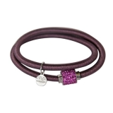 Armband - BOCCADAMO JKBR08 - Silikon/Baumwolle, Strass
