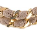 Doppelkette - BOCCADAMO THBR04 - Bronze Gelb vergoldet/Stoff, ohne Stein