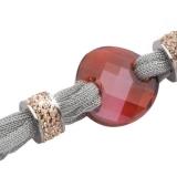 Armband - BOCCADAMO TSBR06 - Lamé/Bronze, Swarovski