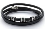 Armband - BOCCADAMO ABR120 - Leder, Zirkonia