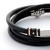 Armband - BOCCADAMO ABR122 - Leder, Zirkonia