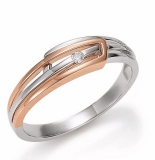 Damenring - Gerry Eder 53.EG106 - 585/- Gold Bicolor, Brillant