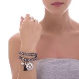 Armband - BOCCADAMO JCBR06 - Stoff, Swarovski Perle