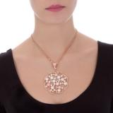 Kette mit Anhänger - BOCCADAMO XGR161RS - Bronze Rosé vergoldet, Swarovski Perle