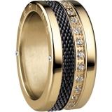 Damenring - BERING 520-20-X4_551-90-X1_556-27-X1 - Edelstahl IP Gold, Zirkonia
