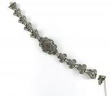 Trachten-Armband - 925/- Silber, Granat