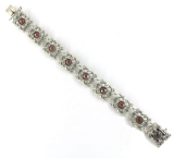 Trachten-Armband - 925 Sterling Silber, Granat