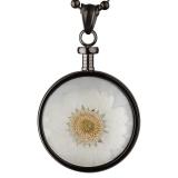 Anhänger - blumenkind BL01MGRWH - Edelstahl, Blume