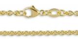 Kette/Anker rund - Kesef 8116 - Edelstahl Gelb vergoldet, Karabiner
