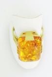 Damenring - 585/- Gelbgold, Bernstein