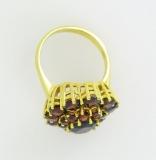 Damenring - 333/- Gelbgold, Granat