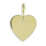 Anhänger - Kesef 1760 - 333/- Gold, ohne Stein, Herz