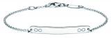 Identitäts-Armband/Anker rund - silver trends STG006 - 925 Silber rhodiniert