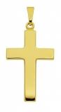 Anhänger - 317835 - 925 Silber vergoldet, ohne Stein, Kreuz