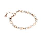 Armband - BOCCADAMO BR479RS - 925 Silber vergoldet, Swarovski Perle