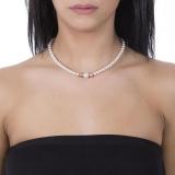 Collier - BOCCADAMO GR649RS - 925/- Silber Rosé vergoldet, Swarovski Perlen