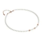 Collier - BOCCADAMO GR650RS - 925 Silber vergoldet, Swarovski Perlen