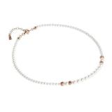 Collier - BOCCADAMO GR652RS - 925 Silber vergoldet, Swarovski Perlen