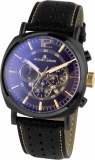 Herrenuhr - Jacques Lemans 1-1645.1O - Quarz, Stahl IP Black
