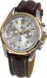 Damenuhr - Jacques Lemans 1-1117.1DN - Chronograph, Stahl IP Gold