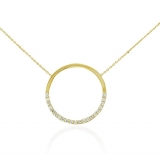 Collier - Gerry Eder 15.EG158 - 585/- Gold, Zirkonia