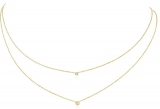 Collier - Gerry Eder 15.EG157 - 585/- Gold, Zirkonia