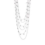 Collier - BOCCADAMO GR717 - 925/- Silber rhodiniert, Amethyst
