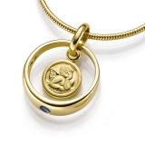 Anhänger - Kesef 3126 - 333/- Gold, Saphir, Taufring