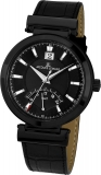 Damenuhr - Jacques Lemans 1-1697C - Quarz, Stahl IP Black