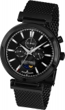 Damenuhr - Jacques Lemans 1-1698E - Quarz, Stahl IP Black