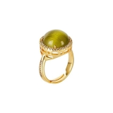 Damenring - BOCCADAMO XAN143D - Bronze Gelb vergoldet, mehrfarbig
