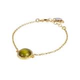 Armband - BOCCADAMO XBR808D - Bronze vergoldet, Kristall