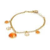 Armband - BOCCADAMO XBR812D - Bronze Gelb vergoldet, Kristall