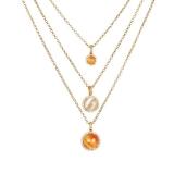 Collier - BOCCADAMO XGR494D - Bronze Gelb vergoldet, Kristall