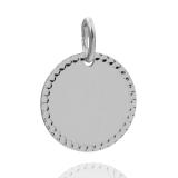 Anhänger - Kesef 6506 - 925/- Silber, Gravurplatte