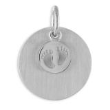 Anhänger - Kesef 6758 - 925/- Silber rhodiniert, Gravurplatte